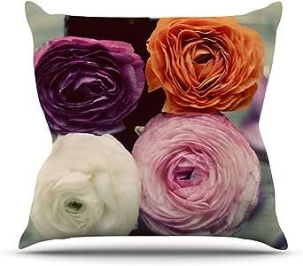 "Kess InHouse Cristina Mitchell 4 种美丽玫瑰户外抱枕 18"" x 18"" 多种颜色 CM2012AOP03"