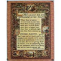 简单祈祷教皇圣弗朗西斯阿西西美术印刷品,27.94 X 35.56 厘米档案卡纸带磁铁夹,用于公告板和立方体墙