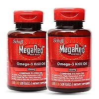 2瓶装|Schiff MegaRed欧米伽-3磷虾油软胶囊350mg 130粒/瓶*2瓶 (美国品牌 香港直邮)(包邮包税)