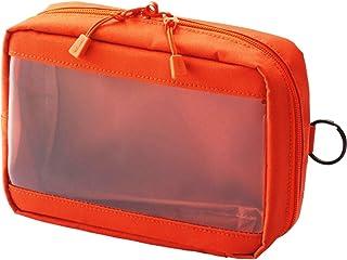 Lihit lab. Clear Box 收纳袋 本体サイズ:180x130x60mm A6 橙色