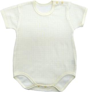 婴儿故事日本制造华夫格短袖肩开扣连体衣 s33303 奶油色 70