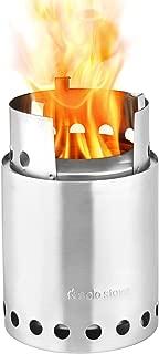 Solo Stove Titan - 2-4 人轻质木刻录炉。 紧凑野营炉套件,适用于背包、露营和生存。 Burns Twigs - 无需电池或液体燃料罐。