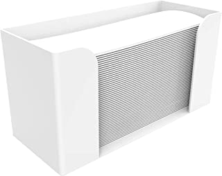 Cq 亚克力台面纸巾分配器,折叠纸巾架,白色客人毛巾餐巾架,适用于Z型折叠,C型折叠或多折叠纸巾,1件装