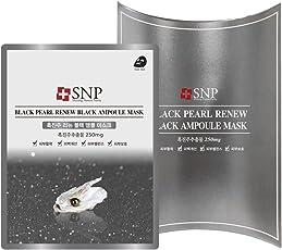 SNP 黑珍珠修复黑色安瓶面膜 25ml*10片装 补水保湿美白深层清洁(韩国品牌)