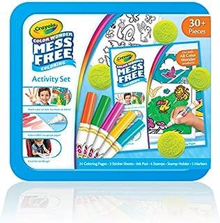 Crayola Color Wonder 著色活動套裝,動物藝術和手工藝品適*為兒童和幼兒 3 歲及以上兒童,無臟亂記號筆,印章,貼紙和彩色頁面,30 多件
