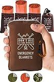 世界上*强韧的急救毯 | 4 件超大保暖聚酯薄膜隔热毯适用于远足、马拉松跑步、急救箱、预备箱、出虫和户外求生装备