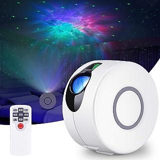 TYY Star 投影机,8 种模式银河投影机,带 LED 云朵,激光星光投影仪带遥控器,适用于婴儿儿童卧室/家庭影院/派对/游戏室和夜灯环境 白色 HR-A1