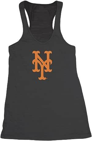 MLB 纽约大都会队女式赛车背背心中号黑色