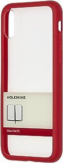 Moleskine Iphone x 手机壳硬壳纸带  红色