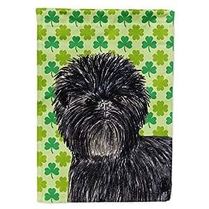 Affenpinscher St. Patrick's Day Shamrock Portrait Flag 多色 小号