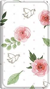 智能手机壳 手册式 对应全部机型 薄型印刷手册 cw-071top 套 手册 水彩花 超薄 轻量 UV印刷 壳WN-PR131323-S Disney Mobile on SoftBank DM015K 图案D