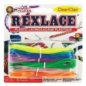 Pepperell Rexlace 塑料系带 27 码串珠编织绳 Clear/Transparent