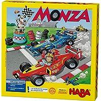 Haba 4416 Monza 赛车桌游,骰子游戏/棋盘游戏,湍流赛车,适用于2-6位5岁以上儿童,益于色彩认知