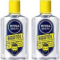NIVEA Men 妮维雅男士 剃须油/密集护理??舒缓刺痛 保护肌肤 适合较软胡子 2瓶装 (2 x 75 ml)