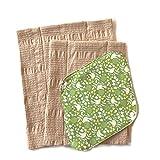 华布 布巾布 布餐巾套装C(鸟格绿支架、L、M)