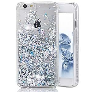 iPhone SE 手机壳,SUPVIN 液体手机壳,适用于 iPhone SE、iPhone 5S、iPhone 5 时尚创意设计流动液体浮动奢华闪耀钻石硬壳适用于 iPhone SE、iPhone 5S6596630 图案 6