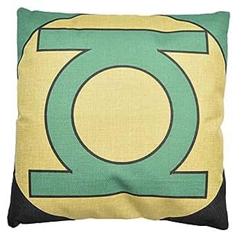 Buankoxy 45.72 cm 棉麻方形枕套装饰垫套枕套 绿灯侠 18 X 18 inch