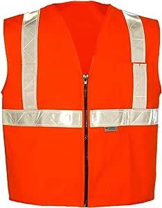 """ok-1拉链风格橙色 vest- 白色装饰 橙色 Small (26-38"""")"""