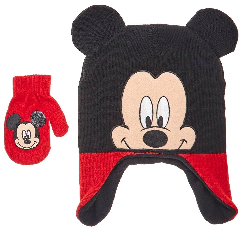 迪士尼米老鼠幼儿男童冬季帽子 & 连指手套套装图片