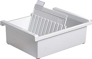HAN 966-0-11,Karteitrog A6 横向,创新,迷人的设计,适用于800张卡,包括1个带观察器的支撑板,浅灰色