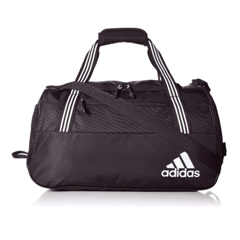 アディダスアディダススクワッドIvのダッフルバッグ、黒/白、サイズ