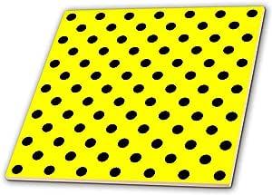 janna salak 设计印花与样式–黄黑色波点印花–瓷砖