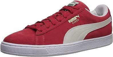 PUMA 彪马 男式 Suede Classic 低帮运动鞋 High Risk Red/White 4