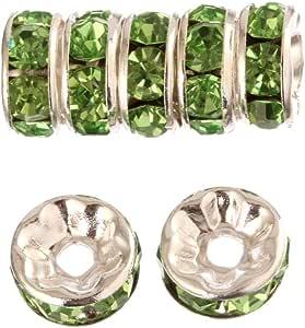 wanjin 组合6mm 镀金*环形隔珠每包100PCS 适用于 jewelery MAKING ( 透明* )