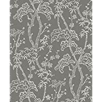 A-Street Prints 2764-24351 Bonsai 灰色 树 墙纸