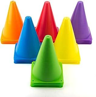 warmgone 室内/室外灵活锥体运动足球弹性锥体套装,各种颜色,24/套