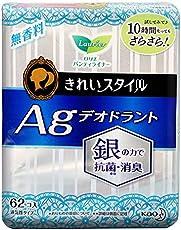 KAO 日本花王 AG离子卫生护垫 14cm 62枚 随机发货(日版乐而雅)(进口)
