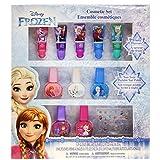 TownleyGirl Disney Princesses、Belle、Ariel、Cinderella和Jasmine、超闪亮化妆品套装带唇彩、*油和*贴纸,11 CT 冰雪奇缘