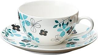 宗峰窑 咖啡杯 闹钟 兼用 杯子和碟子 蓝色 杯子:φ9.7×5.6cm(220cc) 盘子:φ15.7×2.2cm 742-49-233