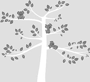 LittleLion Studio 123001080054751073000000 考拉树超大墙贴 White/Medium Gray/Charcoal 123021010074074073000000