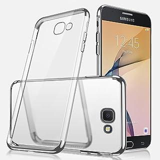 Galaxy J7 Prime 手机壳,Galaxy J7 Prime 透明手机壳,ikasus 超薄水晶透明减震电镀透明缓冲硅胶橡胶软质 TPU 手机壳适用于 Galaxy J7 Prime 银色 IKSS00034740