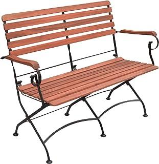 Greemotion Borkum 折叠长凳,黑色/木色