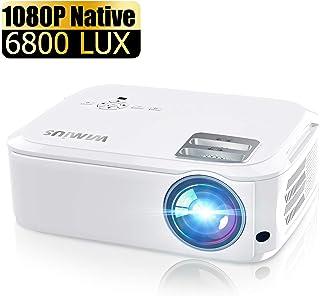 WiMiUS 6000 流明投影机 Native 1080P 白色和黑色 白色