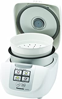 Panasonic 5 Cup (Uncooked) Rice Cooker with Fuzzy Logic and One-Touch Cooking for Brown Rice, White Rice, and Porridge or ...
