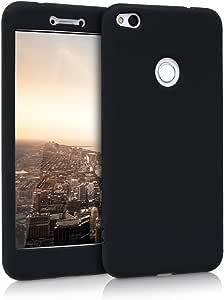 kwmobile 硅胶保护套适用于华为 P8 Lite (2017) - 弹性凝胶橡胶手机后盖 - 黑色44899.01_m000689 .黑色