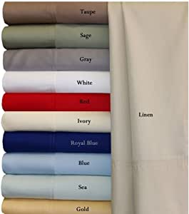 Split-King: Adjustable King White Silky Soft bed sheets 100% Rayon from Bamboo Sheet Set