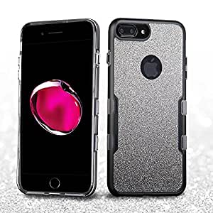 iPhone 7/8 Plus 全闪光 Panoview Hybrid Armor 保护套IP7PLUSHPCTUFFPNV034WP Metallic Black/Smoke Silver Full Glitter