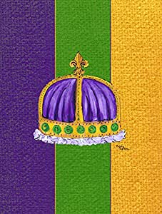 Caroline's Treasures Mardi Gras Flag Made or Printed in the USA 多色 小号