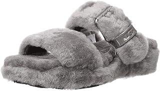 UGG 女式 Fuzz Yeah 坡跟凉鞋