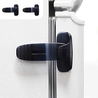 2 件装家用冰箱冰箱门锁,门闩锁,幼儿儿童儿童冰箱锁,婴儿*儿童锁,易于安装和使用 3M 粘合剂,无需工具或钻孔