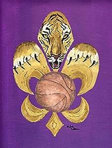 Tiger Soccer Fleur de lis Flag 多色 大
