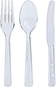 Party Dimensions 48 Count Plastic Cutlery Combo, Clear