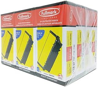 Fullmark N641BK 尼龙打印机丝带兼容替换 Star SP 700/712/742,黑色,12 件装