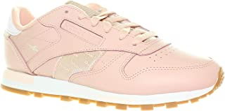 Reebok 锐步 女式经典皮革运动鞋,成人,玫瑰云色/玫瑰金/珊瑚色