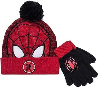 蜘蛛侠男孩帽子和手套冬季套装