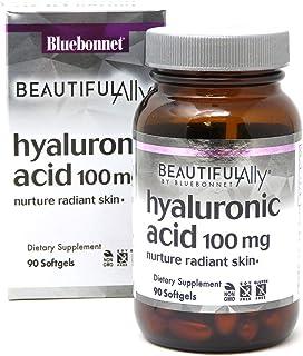 Bluebonnet Nutrition-美丽的盟友透明质酸100 mg 。软凝胶90粒